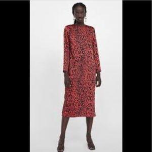 NWOT Zara Animal Print Maxi Dress